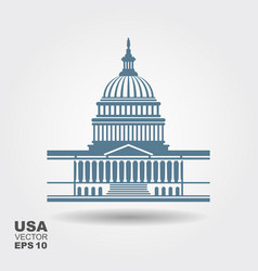 United states capitol building icon in washington vector