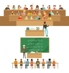 University Education Students And Professors vector
