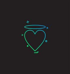 valentines heart angle icon design vector image
