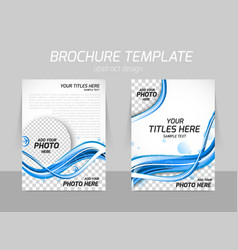 Water design brochure vector image