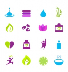 water wellness and Zen icons vector image