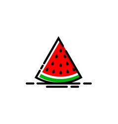 watermelon fruit logo mbe style vector image