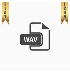 WAV audio file extension icon vector image