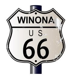 Winona route 66 sign vector