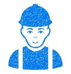 Worker Grainy Texture Icon vector