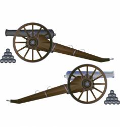 cannon battle field vector image