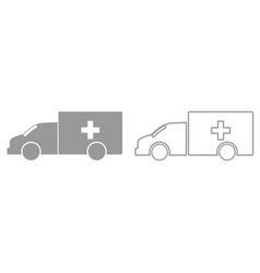 emergency car it is black icon vector image