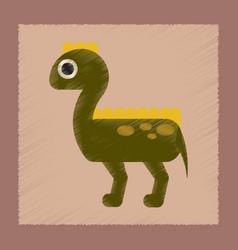 flat shading style icon cartoon dinosaur vector image