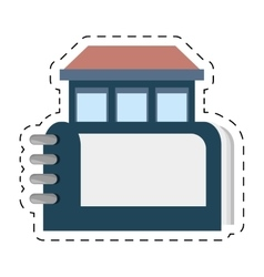 Real estate directory book symbol cut line vector