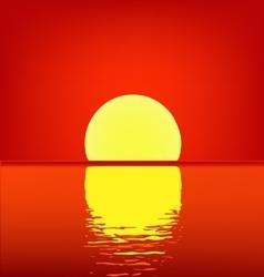 Sunset at Sea vector image