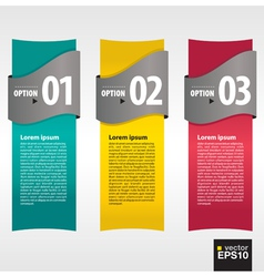 Vertical banner with numbered vector image vector image