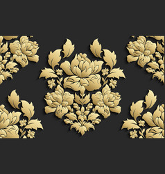 wallpaper in the style of baroque damask vector image