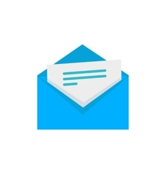 Envelope with Letter Flat Style Icon vector image vector image