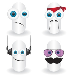 Funny characters faces vector