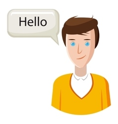 Male translator icon cartoon style vector image vector image