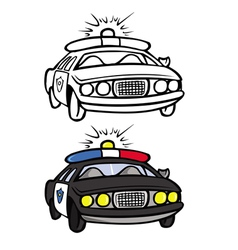 police car coloring book vector image