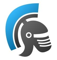 Rome Helmet Gradient Icon vector image