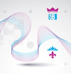 Decorative wavy template background with silky vector image vector image