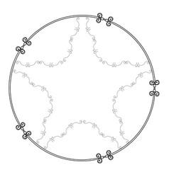 elegant victorian with star shape frame vector image