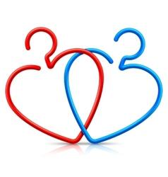 Heart Shaped Hangers vector image vector image