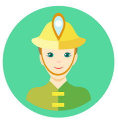icon man firefighter in a flat style image vector image