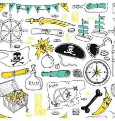 Pirates seamless pattern vector image