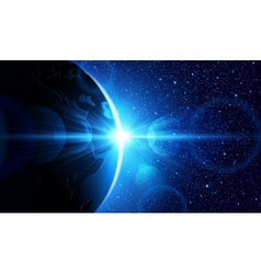 Planet earth vector image
