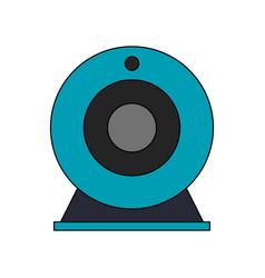 single webcam icon image vector image