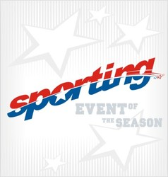 sporting text logo vector image vector image