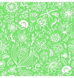 Spring seamless pattern with spring flowers vector image vector image