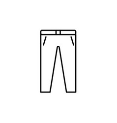 trousers icon vector image