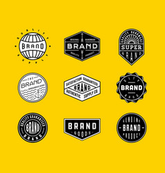 Vintage logo badges 2 vector