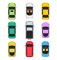 cars top view vector image