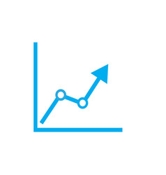 chart icon on white background chart sign vector image