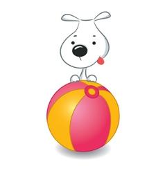 Dog Ball vector image