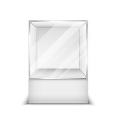 Realistic 3d glass box shop showcase vector image vector image