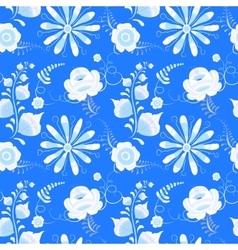 Russian gzhel seamless pattern vector image