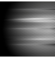 Tech perforated metal background vector image vector image