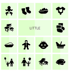 14 little icons vector