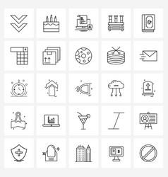 25 universal icons pixel perfect symbols of vector