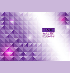 Abstract purple geometric triangle background vector