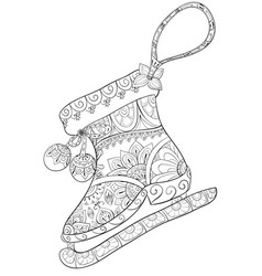 Adult coloring book a cute skate image vector