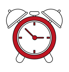 Analog alarm clock icon image vector