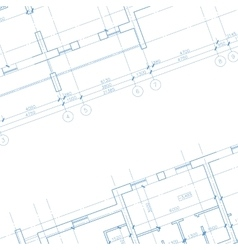 Architecture blueprint background vector image