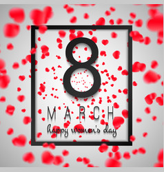 background card international womens day with vector image