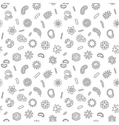 Bacteria simple seamless pattern in thin vector