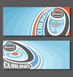 Banners for curling vector