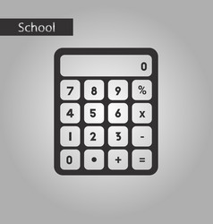 Black and white style icon electronic calculator vector