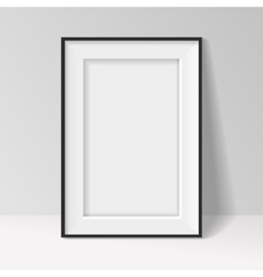 Black frame standing near the walll vector image