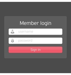 black login interface vector image